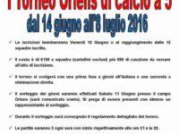 Brembate, dal 14 giugno il 1° Torneo Oriens di calcio a 5: come iscriversi