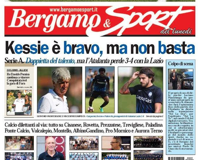 Bergamo & Sport vi aspetta in edicola lunedì 22 agosto!