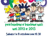 Aurora Seriate, l'1 e l'8 ottobre l'open day per bimbi e bimbe nati nel 2012 e nel 2013