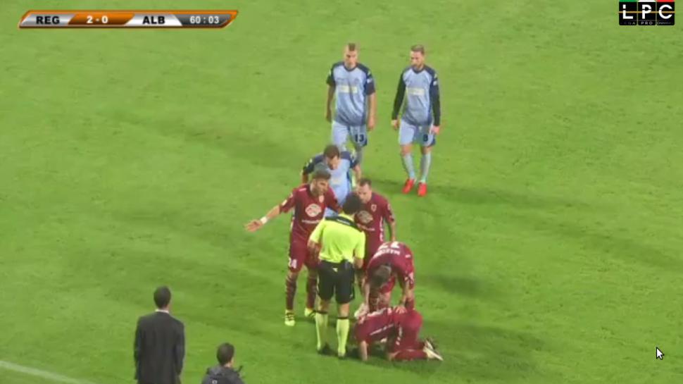 Lega Pro, girone B: AlbinoLeffe preso in contropiede a Reggio (2-0)