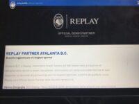 Atalanta-Replay: accordo per tre anni di partnership