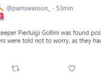 """""""Gollini ha il Covid"""". Spavento in rete, ma era uno scherzo"""