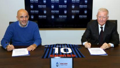 L'Atalanta abbraccia la Ricoh, sponsor dell'ultimo Verona europeo