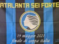 """""""Atalanta sei forte"""": la bandiera della Curva Nord, """"su tutte le case per la Coppa Italia"""""""